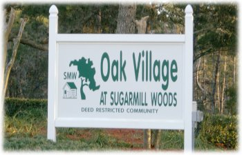 Oak Village sign